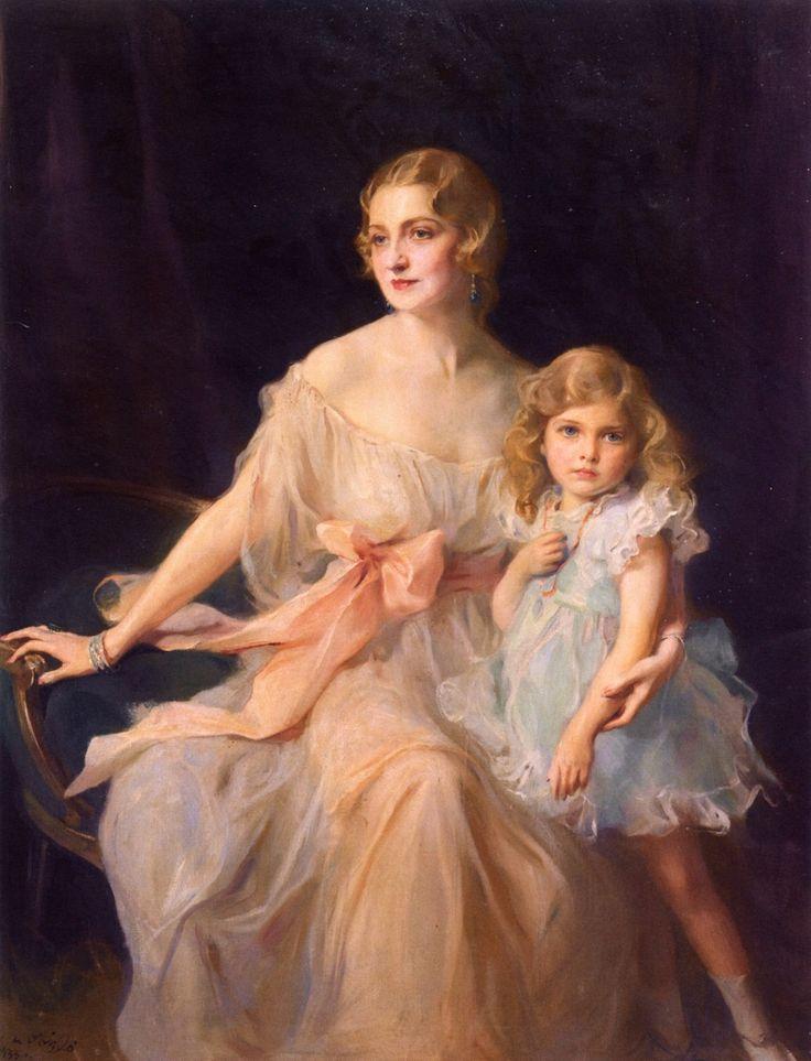 The Athenaeum - Mrs. Claude Leigh and Miss Virginia Leigh (Philip Alexius de László - )