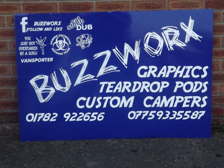 Business advertising board designed and produced by buzzworx newcastle under lyme