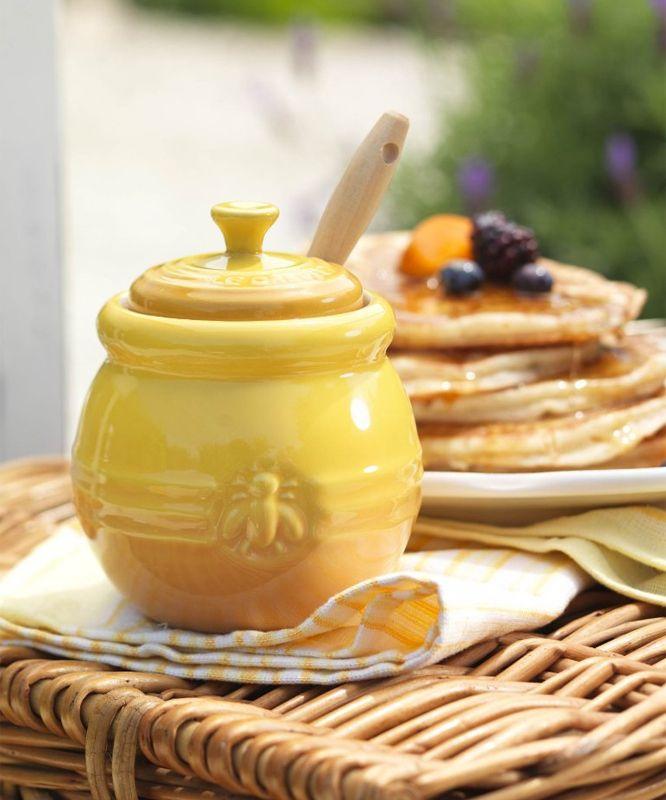"""Le Creuset Горшочек для меда, с силиконовой лопаткой - арт.91017200060000, арт.91017200102000 - """"Posuda-Premium"""""""