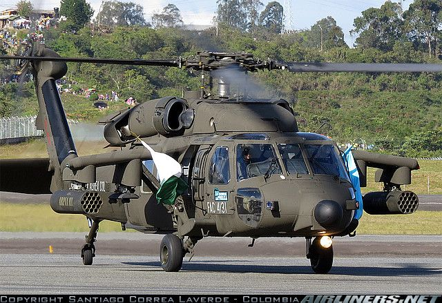 Colombian Air Force or FAC (Spanish: Fuerza Aérea Colombiana): Sikorsky AH-60L Arpia III (S-70A-41)
