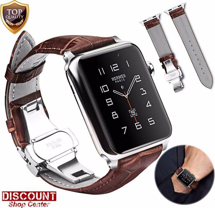 Watch Band For Apple 42mm Genuine Leather Strap Wrist Bracelet Series 3 2 1 New #WatchBandForApple29846