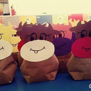 paper bag cow craft