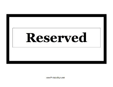 use this small printable sign to show that a room office table or anything else is reserved. Black Bedroom Furniture Sets. Home Design Ideas