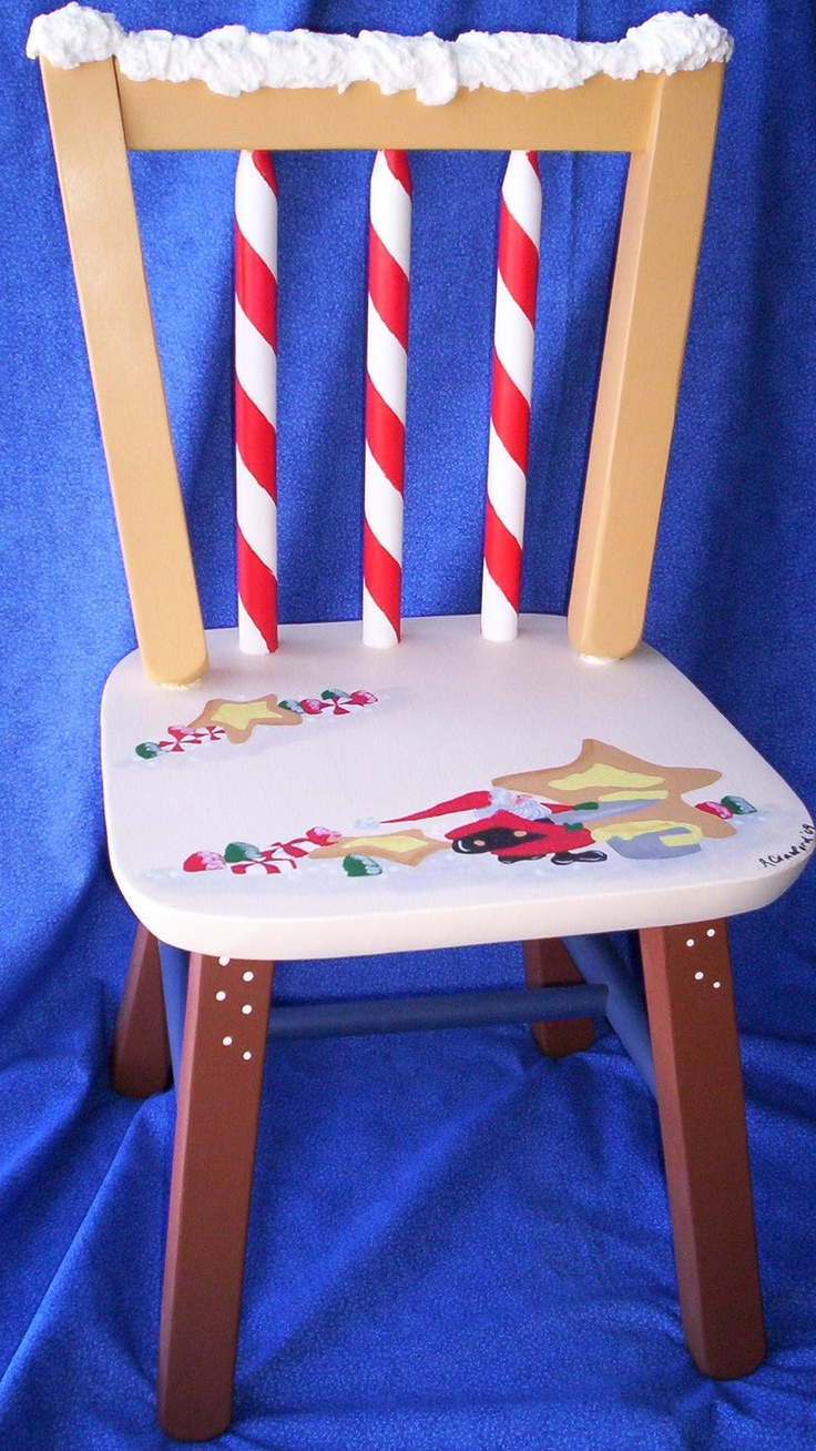Childs Painted Christmas Chair Christmas Chair