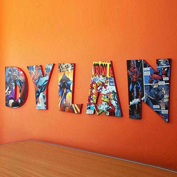 145 best home decor for kids images on pinterest diy children and bedroom ideas - Marvel comic bedroom ideas ...
