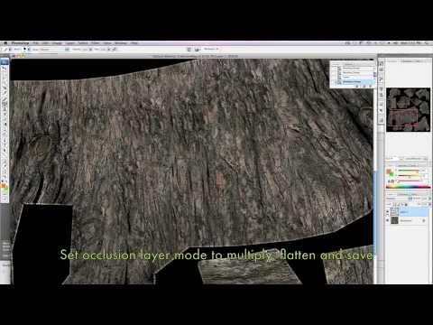 Mudbox 2010 Creating Tree Surface Textures part 2