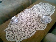 """My free Oval Pineapple Doily Pattern is available on my website http://www.learn-how-to-crochet.com/ located in the """"Crochet Made Easy"""" section."""