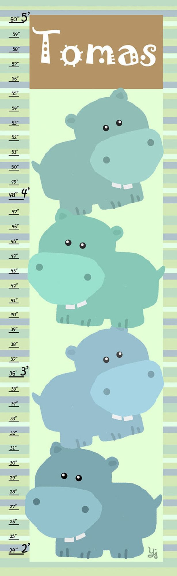 Best 25 personalized growth chart ideas on pinterest child stacked hippos personalized growth chart nvjuhfo Gallery