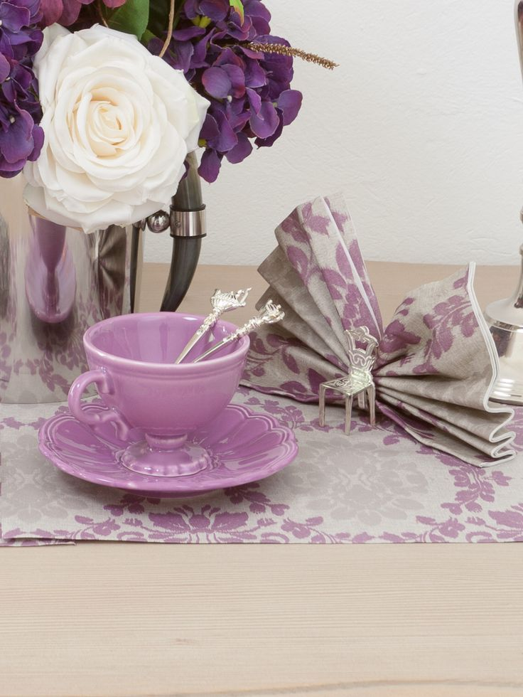 Luxurious Dinner Tables for Unique Occasions - White Roses, Purple Hydrangeas and Boho Flower Napkin Decorations