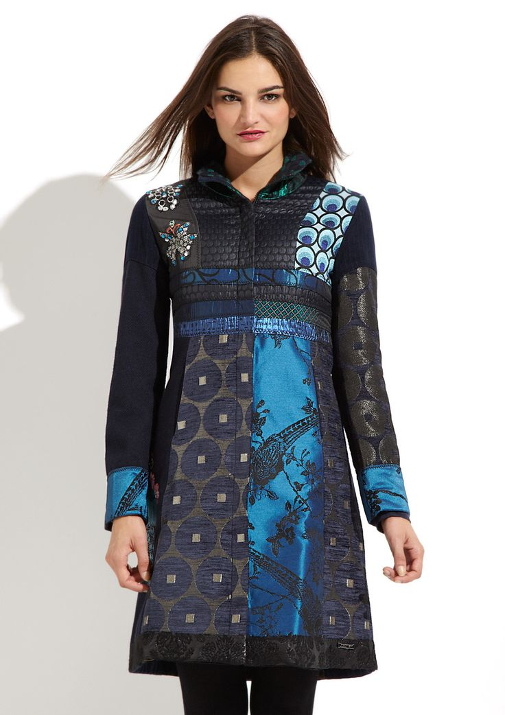 I can do this with all of the curtain fabric that I have. Chose a jacket design DESIGUAL Blue Morning Coat $229.99 $464.00