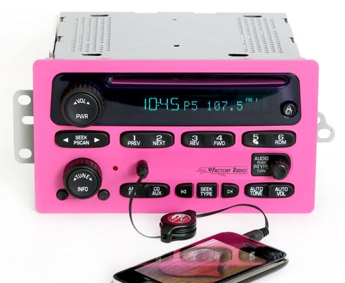 Chevy 2005-09 GMC Truck Radio AM FM CD Player w Aux Input Pink Version 10359576