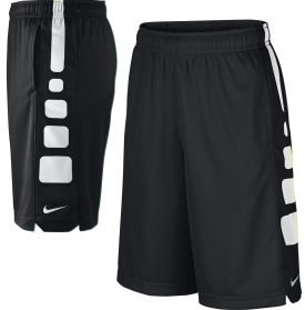 Your young basketball player will rise to the occasion in the Nike® Boys' Elite Stripe Shorts. Expertly designed with breathable mesh and moisture-wicking material, these basketball shorts will keep him lightweight and comfortable on the basketball court. Other features include a stretch waistband for ease-of-movement, side slit pockets for storage, and contrasting side panels so he can show off his athletic style.