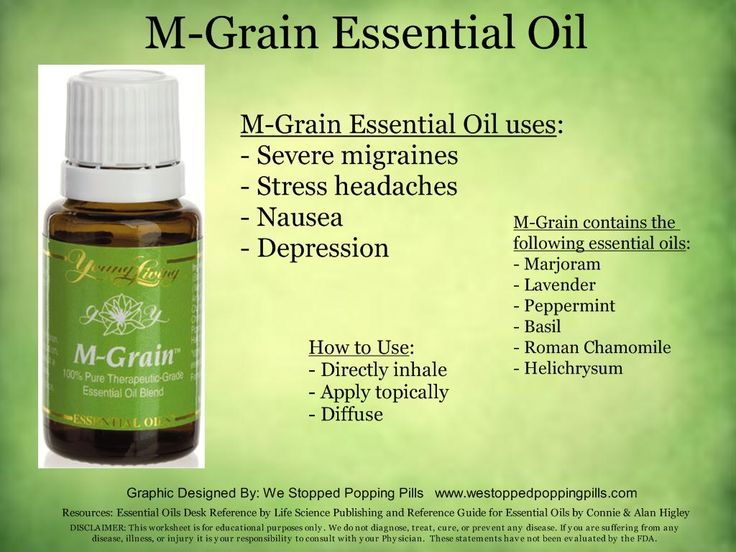 Grain essential oil the best around no meds helped my migraines this