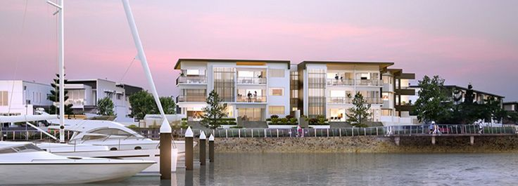 Contemporary apartments with private marina berths