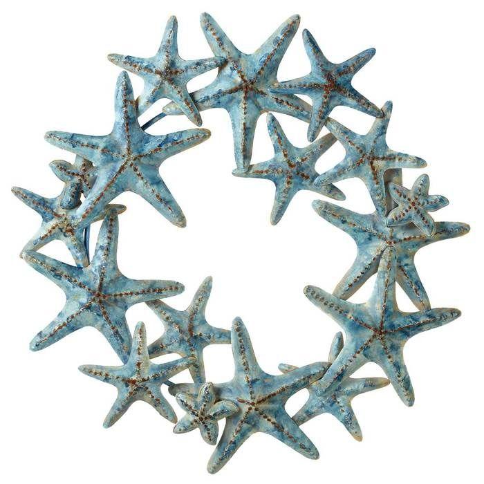 Weathered Starfish Metal Wreath 99