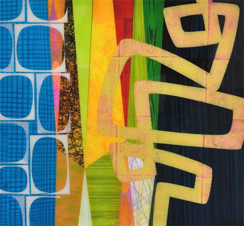 """Gallery 16: Rex Ray - Collage (16"""" x 16"""")"""