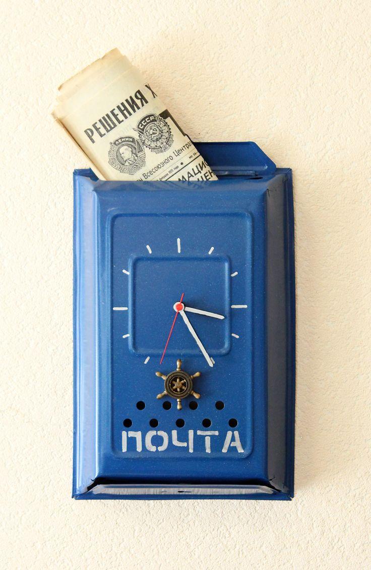 watch for mail #часы #почта #газета #якорь #прикладноетворчество #творчество #своимируками #AndreyPenkin