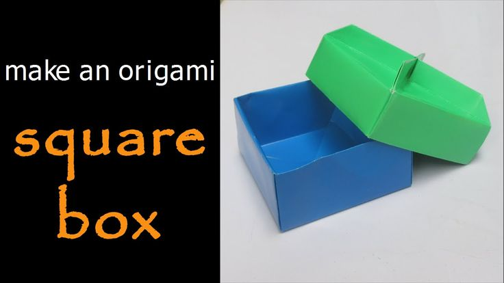 how to make an origami square box
