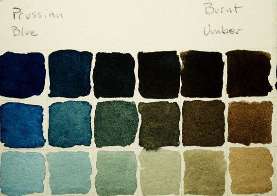 Burnt Umber Artiste Fait A La Main Peinture Aquarelle Schmincke
