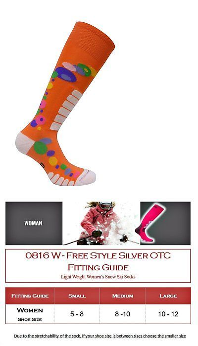 Socks 97064: Eurosocks Womens Free Style Silver Socks, Orange, Large -> BUY IT NOW ONLY: $32.09 on eBay!