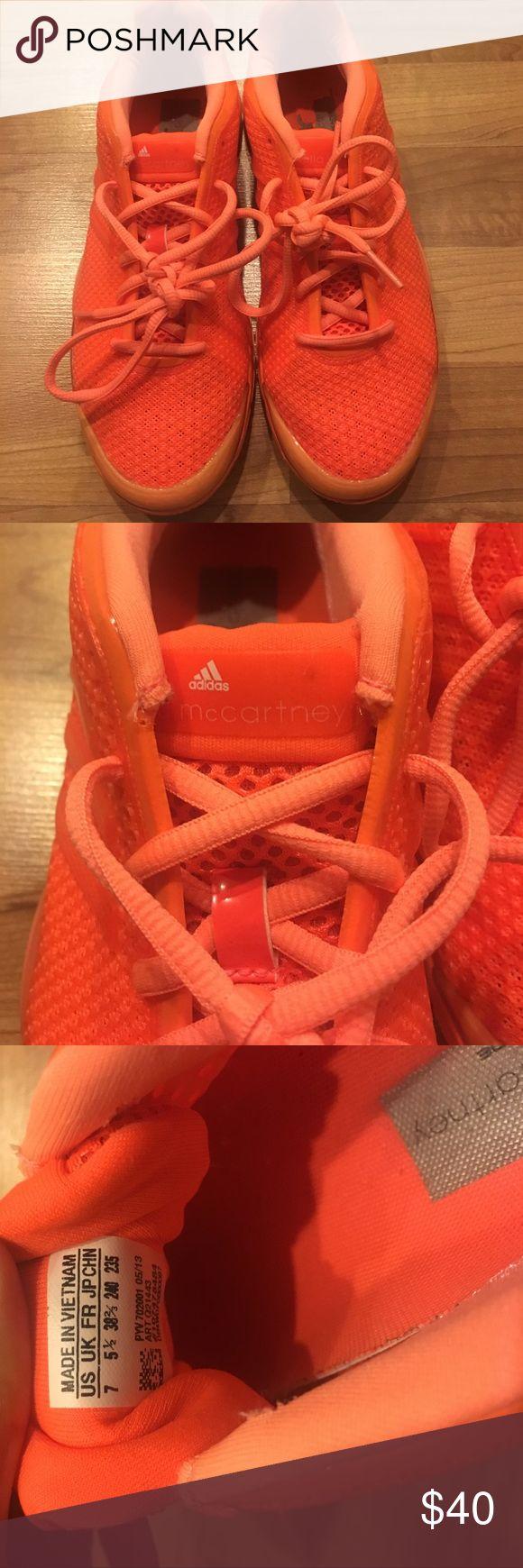 Adidas by stella maccartney A flashy orange Adidas by Stella McCartney Shoes Sneakers