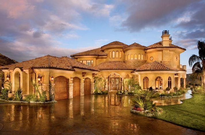 Mediterranean Tuscan Home/House Exterior