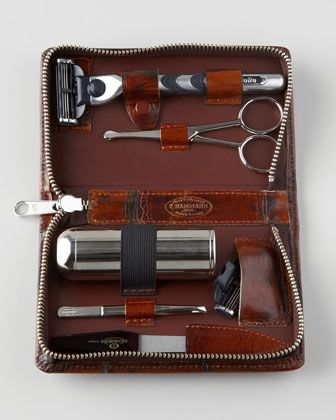 """Men's Shaving Kit - Horchow-Got this for my husband. Disappointed in how small and """"cheap"""" kit was. LH"""