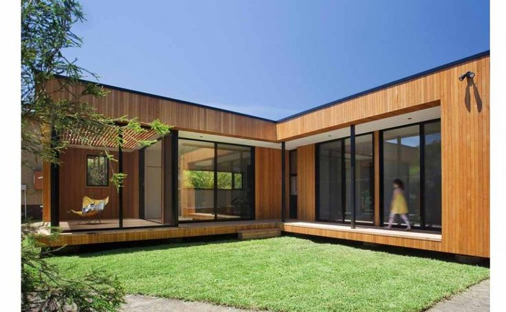 Architecture Modern L Shaped Modular Wooden House