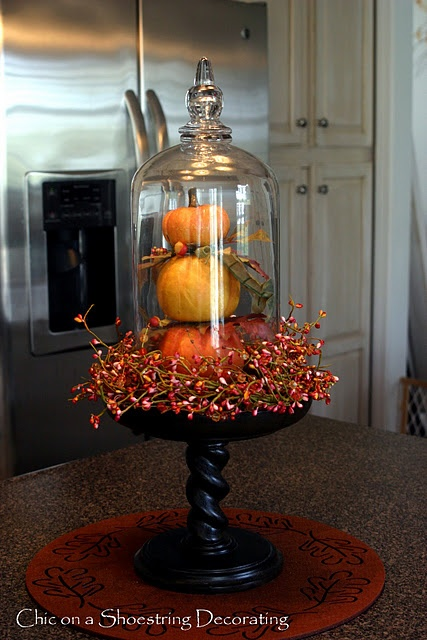 Decorating Ideas For Glass Domes For Autumn