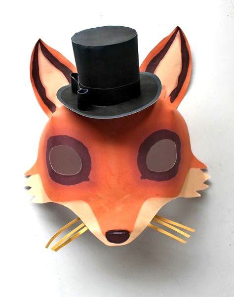 333 best paper mask fun images on pinterest craft for Fantastic mr fox mask template