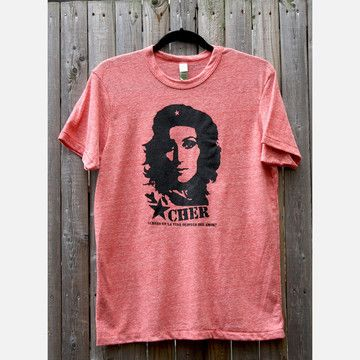 Cher Guevara Eco Tee Unisex, $23, now featured on Fab. [Shirt, F Printing Co.]