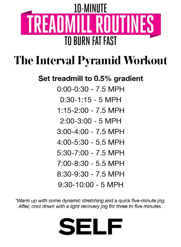 10-Minute Treadmill Routines - Boredom busters or just to switch things up a bit...