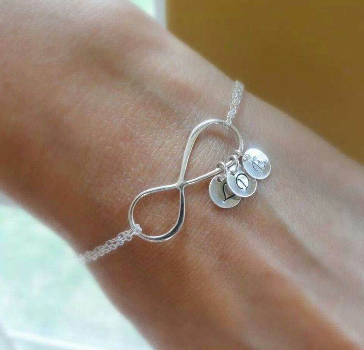 Infinity bracelet with charms of children's initials❤️