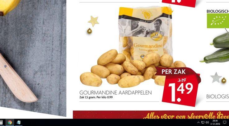 De aardappels zijn prijzig bij de Deka markt : 1.5 gram voor voor €)1,49  ... 😉