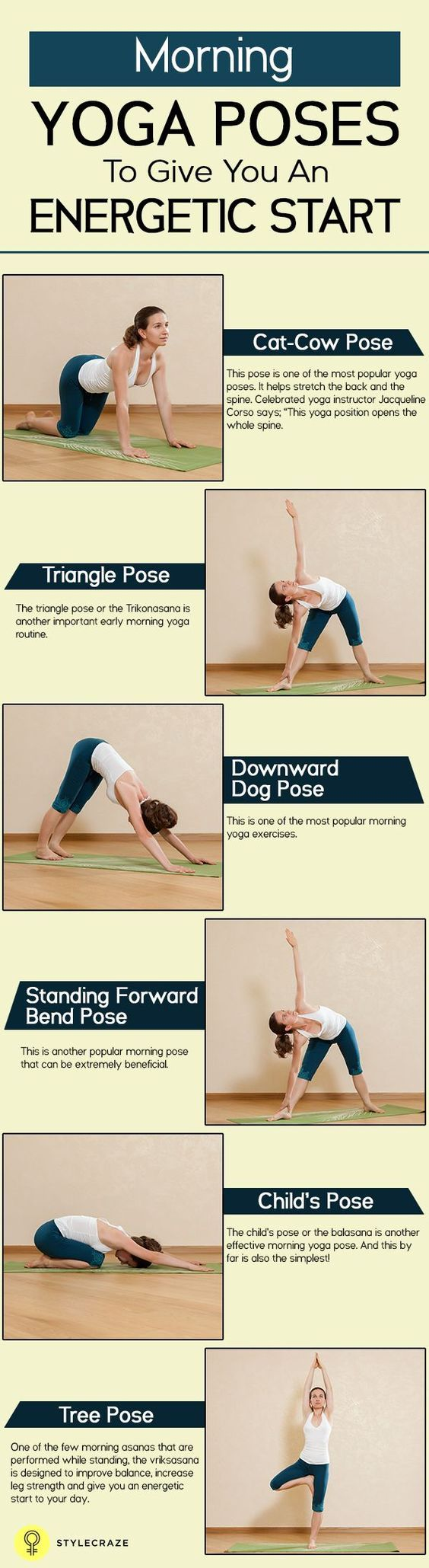 Do you often feel tired during the day? Do you wake up every morning feeling dull and down? Here are 10 effective morning yoga exercises for energetic start.