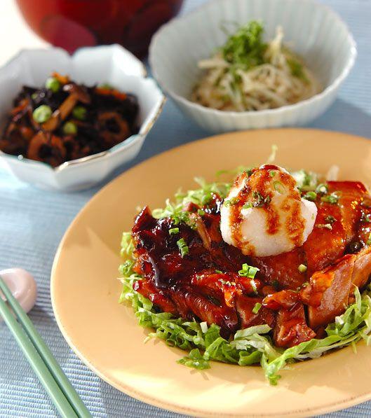 「チキンのジンジャー照り焼き」の献立・レシピ - 【E・レシピ】料理のプロが作る簡単レシピ/2009.01.30公開の献立です。