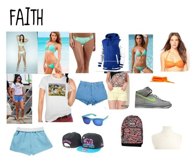 """""""Spring Breakers: Faith"""" by mary99pink ❤ liked on Polyvore featuring Victoria's Secret, Rip Curl, NIKE, DGK, Dogeared and ASOS"""