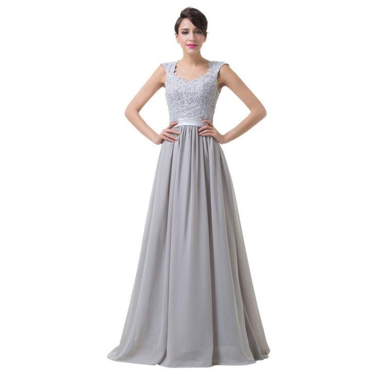 Sivé spoločenské šaty CL6231