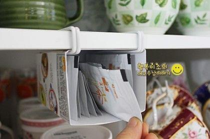 세탁소옷걸이 리폼으로 싱크대 선반 밑의 자투리 공간 수납 법 200% 활용하기 : 네이버 블로그