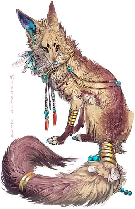 """""""Eesa"""" by Tatchit. (This is really more of a wolf than a fox, but I like it nonetheless.)"""