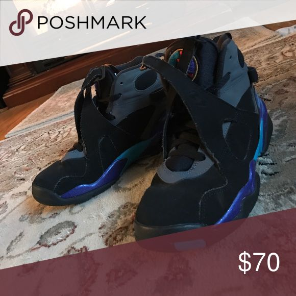 Jordan aqua 8s I bought these last year and wore them once in a while but they are in mint condition Jordan Shoes Athletic Shoes