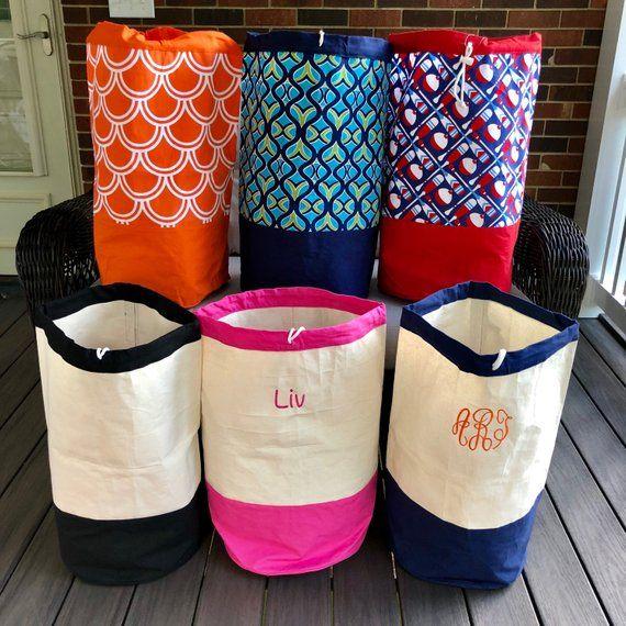 Monogrammed Laundry Bag Camp Laundry Bag Laundry Hamper