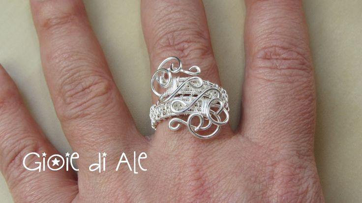 Rame argentato #gioiediale #lemaddine #lemaddinecreano #bijouxhandmade #handmadejewelry #bijoux #gioie_di_ale #anello #jewels #ring #wire #wireweaving