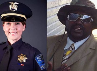 Betty Shelby of the Tulsa Police Department. Tulsa Police Department and her victim Terence Crutcher, 40