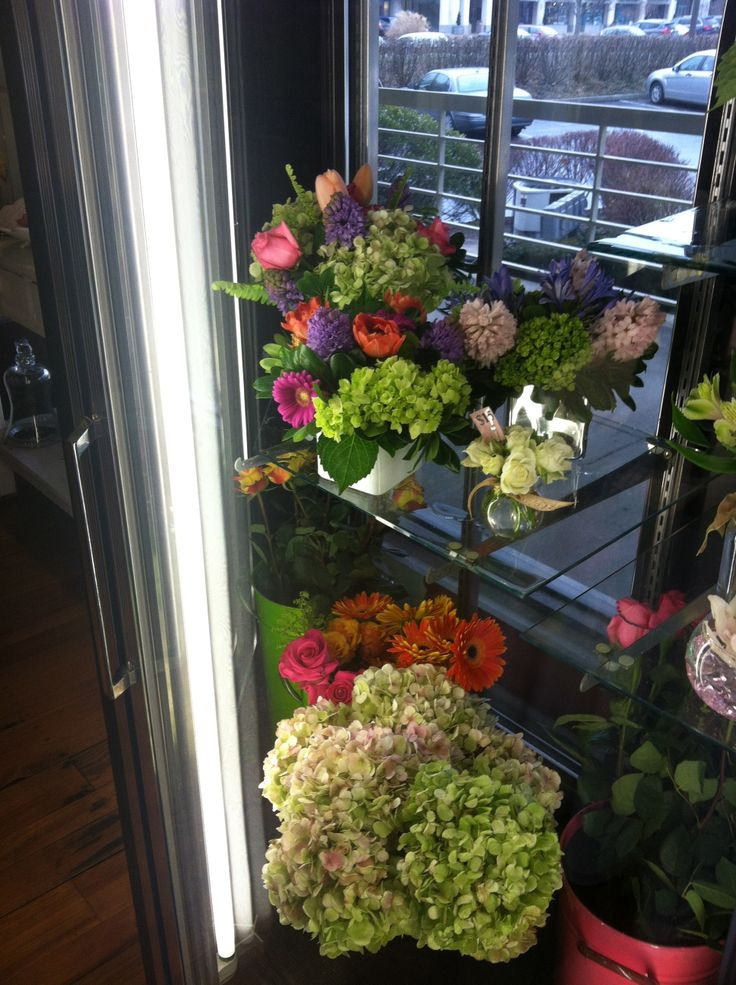 Our cooler is stocked every day with fun, funky, and fabulous arrangements! Made fresh every day