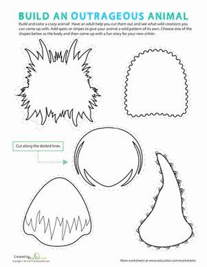 make your own monster halloween monsters make your own monster monster crafts monster shapes. Black Bedroom Furniture Sets. Home Design Ideas