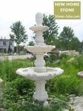 Características de água jardim independente 3 camadas características da água fontes de mármore branco esculpido 3 camadas fontes(China (Mainland))