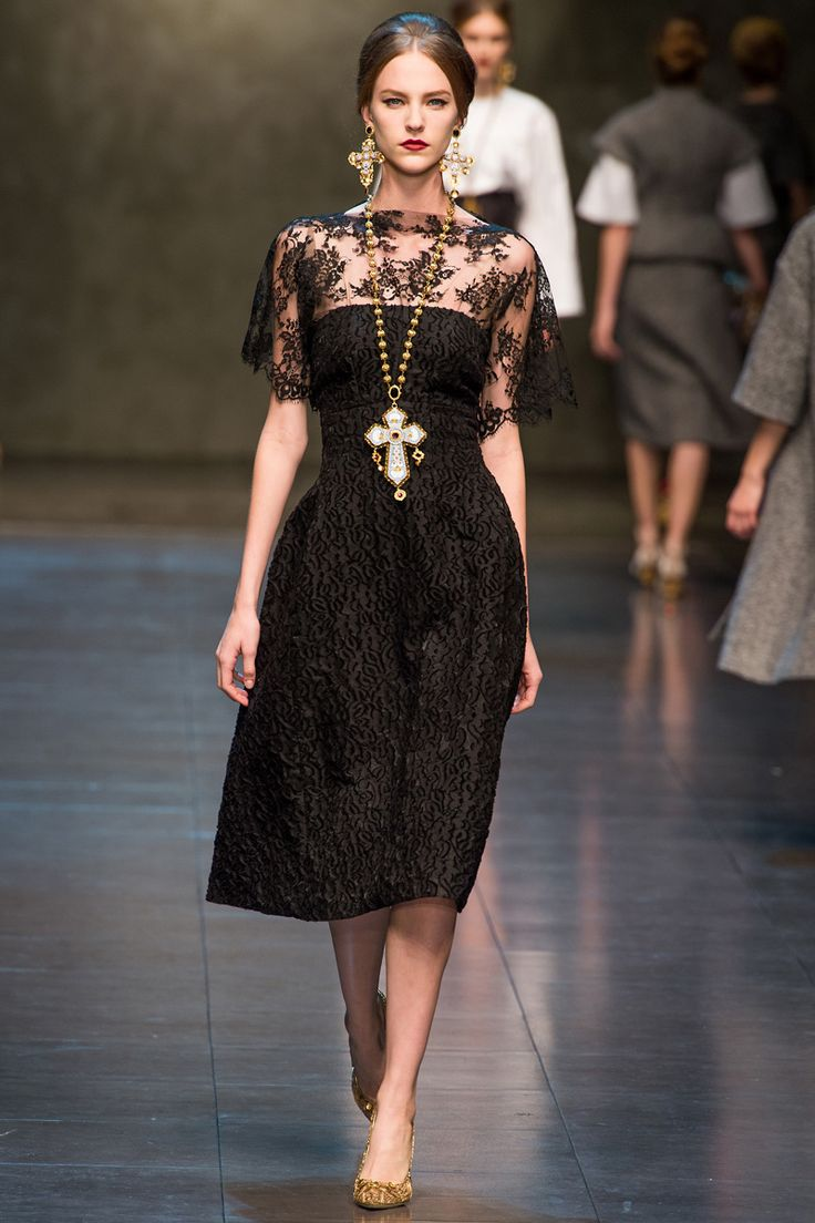Dolce & Gabbana Fall 2013 RTW - Without a doubt a collection that creatively embraced classic elements from the trio od British, Italian and French cultures.