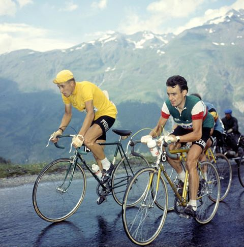 Anquetil The famous battle with Poulidor in 1964 on Puy de Dôme: