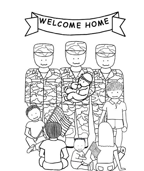Mejores 50 im genes de fearless army coloring pages en for Welcome home coloring pages